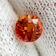 0.55Ct Оранжевый Сонгеа сапфир 4.5мм круг