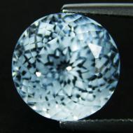 5.27Ct Натуральный голубой топаз 10мм (круг)