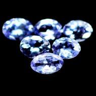 0.22Ct Природный драгоценный камень танзанит 4*3мм овал (цена за 1шт)