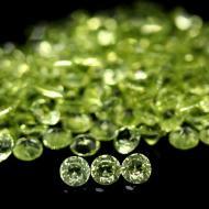0.02Ct Драгоценный камень Хризолит (Перидот) 1.7мм круг (цена за 1шт)
