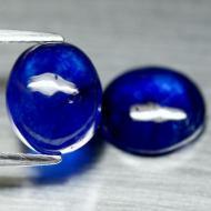 8.73Ct Драгоценный камень Сапфир А+++ Класса Пара 10*8.5мм кабошон