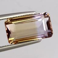 8.58Ct Драгоценный камень аметрин 16*9мм октагон (Сертификат)