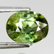 0.76Ct Зеленый турмалин (Верделит) 6*5мм овал