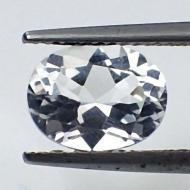 0.6Ct Редкий Белый бесцветный турмалин (Ахроит) 5*3.9мм овал