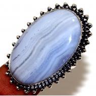 Серебряное кольцо с кружевным агатом 20р