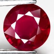 2.27Ct Натуральный чистый темно-красный рубин 7.5мм (круг)