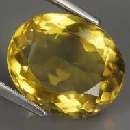 4.63Ct Натуральный лимонный кварц 12.2*10.0мм овал ВИДЕО