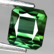 1.04CT Натуральный турмалин зеленый (верделит) 5.6*4.9мм (октагон)