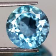 4.7Ct Натуральный голубой топаз 10мм (круг)
