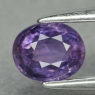 0.52Ct Редкий фиолетовый сапфир 5*4мм овал (Видео)