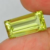 6.76Ct Натуральный лимонный кварц 17*8.5мм багет ВИДЕО
