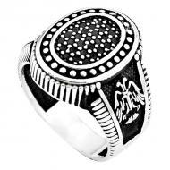 Мужская печатка из серебра с черным ониксом 21р