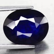 2.77Ct Натуральный синий сапфир класса АА+ 8.5*6.9мм овал
