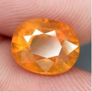 4.95Ct Желто-оранжевый Сонгеа сапфир 10.6*8.5мм (овал)