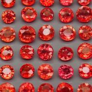 0.2Ct Красный Падпараджа сапфир 3-3.2мм (цена за 1шт)