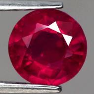 1.85Ct Натуральный насыщенный красный рубин 7.1мм (круг)