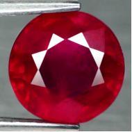 2.57Ct Натуральный насыщенный красный рубин 7.8мм (круг)
