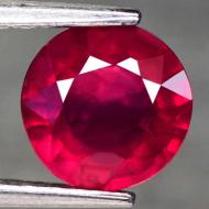1.57Ct Натуральный Премиум класса рубин 6.9мм (круг)