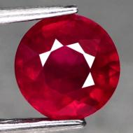 1.83Ct Натуральный драгоценный камень рубин 7.1мм (круг)