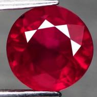 2.23Ct Натуральный Премиум класса рубин 7.1мм (круг)