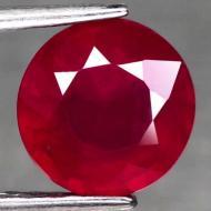 2.69Ct Натуральный красный рубин 8мм (круг)