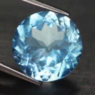 5.15Ct Натуральный негретый голубой топаз 11мм (круг)