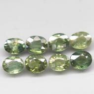 0.2Ct Натуральный зеленый сапфир 4*3мм овал (цена за шт)