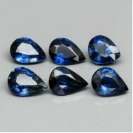 0.3Ct Натуральный синий сапфир груша 4.6*3.6мм (цена за 1 шт)