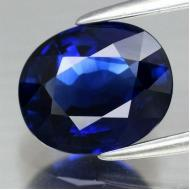 0.5Ct Натуральный синий сапфир класса АА+ 5*4мм овал