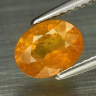 1.54Ct Желто-оранжевый Сонгеа сапфир 7.6*6мм овал (Видео)