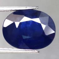 7.26Ct Крупный Натуральный сапфир 12.2*9.5мм класса АА+ (овал) Сертификат