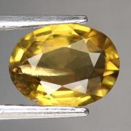 1.33CT желтый турмалин тсилаизит 8.5*6.6мм (овал)