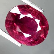 2.2CT Малиново-красный турмалин рубеллит 9.1*7.6мм (овал)