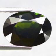 1.96CT Натуральный турмалин зеленый (верделит) 9.3*6.8мм (овал)
