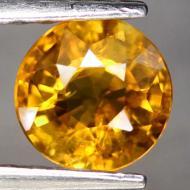 1.01CT Натуральный оранжевый турмалин (дравит) 6.2мм (круг)