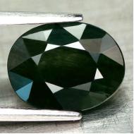 2.67Ct Натуральный зеленый сапфир 9.2*7.1мм овал