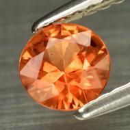 0.5Ct Оранжевый Сонгеа сапфир 5мм круг