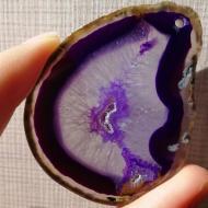 130Ct Друза фиолетового Агата 57*43мм (Ботсвана) кулон