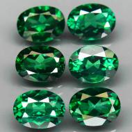 1.4Ct Натуральный зеленый топаз 8*6мм овал (цена за 1шт)