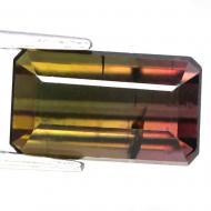 4.13CT Натуральный арбузный турмалин 11.1*6.4мм (октагон)