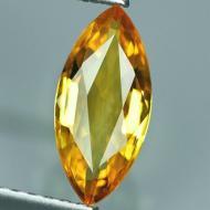 0.25Ct Желтый Сонгеа сапфир 5.4*2.8мм (маркиз)