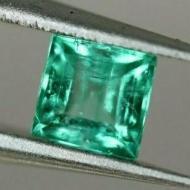 0.35Ct Чистый необработанный изумруд Премиум класса 4мм квадрат (Класса АА++) с Сертификатом