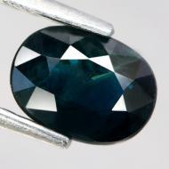 1.4Ct Натуральный сине-зеленый сапфир 7.1*5.3мм овал