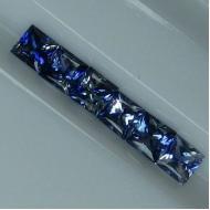 0.24Ct Негретый синий сапфир квадрат 3.4мм (цена за 1 шт)