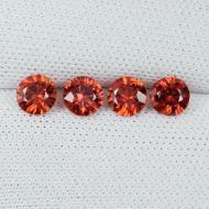 0.25Ct Оранжевый Падпараджа сапфир 3.4мм (цена за 1шт)