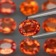 0.28Ct Оранжевый Падпараджа сапфир 4*3мм овал (цена за 1шт)