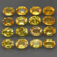 0.2Ct Натуральный желтый сапфир 4*3мм (цена за 1шт)