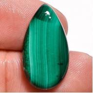 11.85Ct Малахит натуральный 21*12мм (груша кабошон) Конго