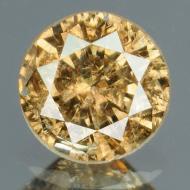 0.29Ct Натуральный желтый бриллиант 4.1мм с Сертификатом IGR (Fancy Brown)