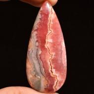 81.85Ct Крупный Натуральный родохрозит 51*23мм груша кабошон